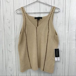 JOSEPHINE CHAUS NWT TAN HEAVY KNIT TANK TOP XL